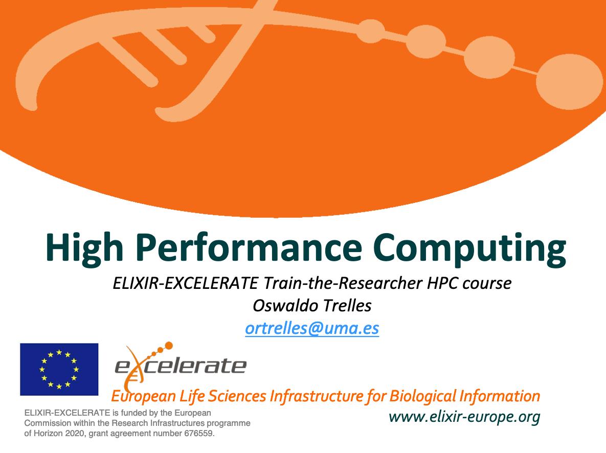 ELIXIR-EXCELERATE HPC Train-the-Researcher course 2